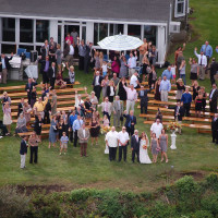 Wedding - Aerial shot of party - Heliops